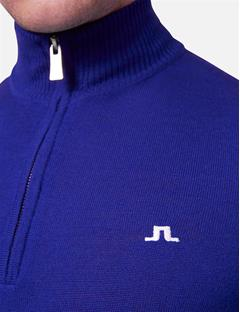 Kian Logo Print Tour Merino Sweater Strong Blue