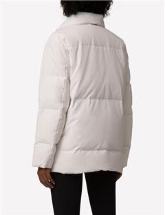 Savannah Vintage Nylon Coat White