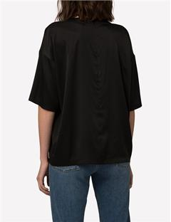 Raisa Washed Silk Top Black