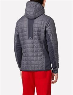 Mens Atna Pertex Hybrid Hood Jacket Grey Melange