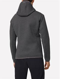Mens Logo Tech Sweat Hoodie Grey Melange