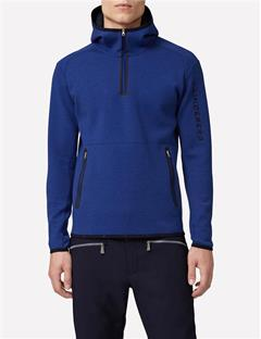 Mens Logo Tech Sweat Hoodie Strong Blue