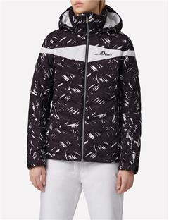 Womens Crillon Printed 2L Down Jacket Black Feather