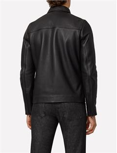 Zac Classic Leather Jacket Black