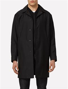 Mens Cycle 3-Layer Storm Nylon Coat Black