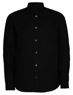 Mens Daniel Raw Silk Shirt Black