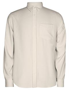 Mens Daniel Raw Silk Shirt Off White