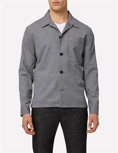 Mens Jason Stretch Wool Overshirt Lt Grey