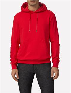 Mens Domino Cotton Logo Sweatshirt Cherry