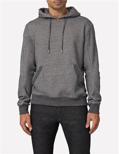 Mens Domino Cotton Logo Sweatshirt Dk Grey Mel
