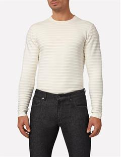 Mens Jude Structure Striped Sweater Whisper White