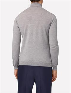 Mens Lyd True Merino Turtleneck Lt Grey Mouline