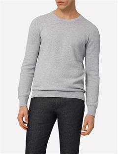 Mens Dexter Circle Structure Sweater Lt Grey Melange