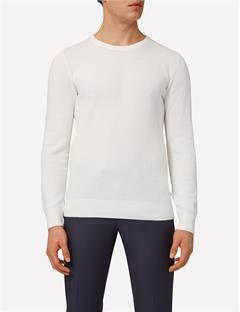 Mens Dexter Circle Structure Sweater Off White