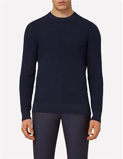 Mens Lexter Structure Knit Sweater JL Navy