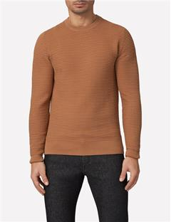 Mens Lexter Structure Knit Sweater Woodsmoke