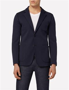 Mens Piemonte Double Jersey Blazer Blue Depths