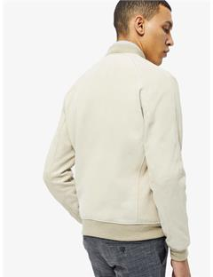 Thom Fluid Suede Bomber Jacket Oxford Tan