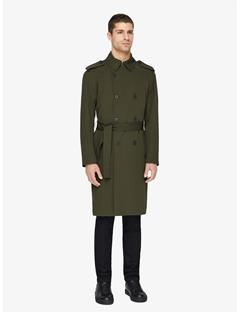 Bogart Tech Wool Trench Coat Major Brown
