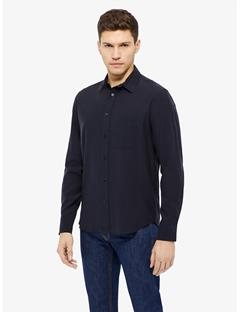 David Light Peached Cotton Shirt JL Navy