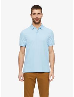 Troy Clean Pique Polo Gentle blue