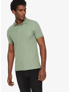 Troy Clean Pique Polo Hedge Green