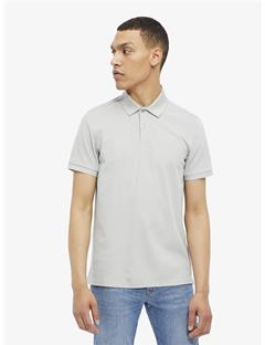 Troy Clean Pique Polo Stone Grey