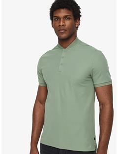 Leo Lux Pique Polo Hedge Green