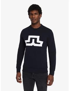 Throw Ring Loop Print Sweatshirt Black
