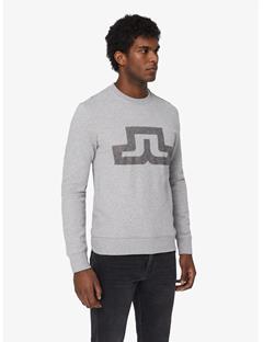 Throw Ring Loop Print Sweatshirt Lt Grey Melange
