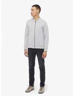 Randall Pattern Jaquard Sweater Jacket Lt Grey Melange