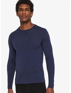 Newman Perfect Merino Crewneck Sweater Mid Blue