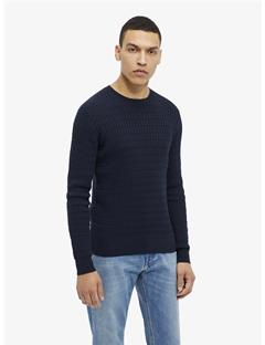 Carl Cable Cotton Sweater JL Navy