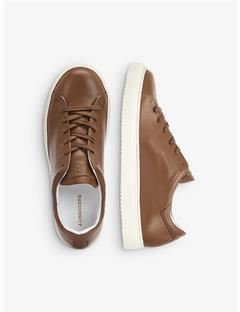 Low-top Leather Sneakers Glazed Ginger