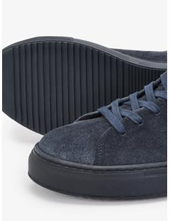 Mens Low-top Suede Sneakers JL Navy