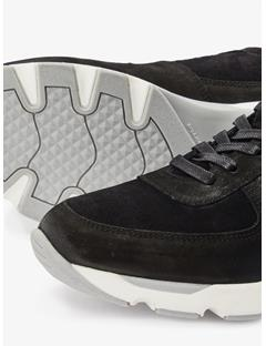 Bump Suede Sneakers Black