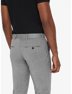 Paulie Comfort Wool Pants Lt Grey Melange