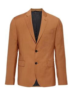 Mens Hopper Soft Comfort Wool Blazer Glazed Ginger