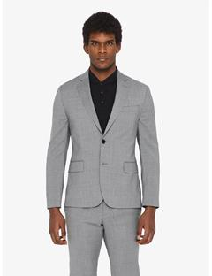 Mens Hopper Soft Comfort Wool Blazer Lt Grey Melange