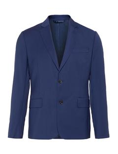 Mens Hopper Soft Comfort Wool Blazer Mid Blue