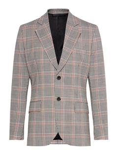 Mens Jake Acid Glen Blazer White