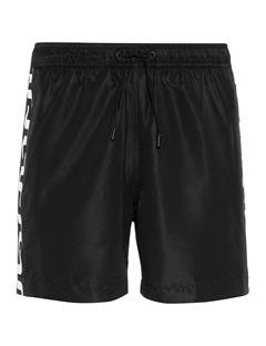 Mens Banks Solid Stripe Swim Trunks Black