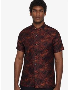 David Jaquard Shirt Black