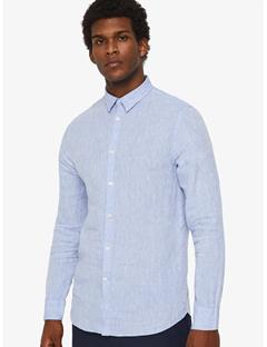 Daniel Linen Melange Shirt Lt Blue Melange