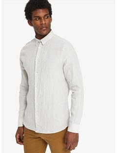 Daniel Linen Melange Shirt Pale Powder Mel
