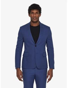 Mens Hopper Soft Tech Linen Blazer Blue