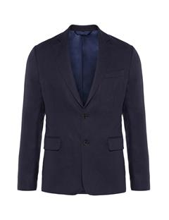Mens Hopper Soft Tech Linen Blazer JL Navy