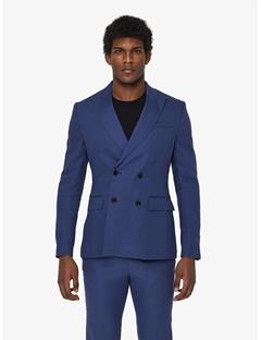 Mens Donnie Tech Linen Blazer JL Navy
