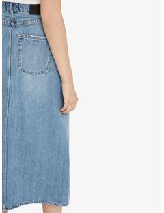 Womens Conei Sharp Denim Skirt Light Blue