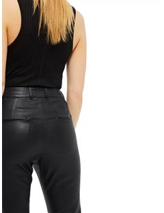 Womens Kath Second Skin Nappa Leather Pants Black